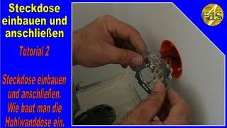 Tutorial 2 Steckdose einbauen / Steckdose anschließen / Hohlwanddose einbauen / mit ein paar Tipp´s