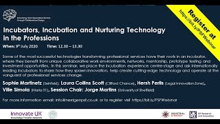 Incubators, Incubation and Nurturing Technology in the Professions