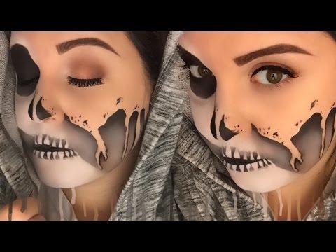 Melting Glam Skull- DRUGSTORE Makeup Tutorial for Halloween (Desi Perkins Inspired)