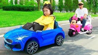 보람이의 전동자동차 장난감으로 학교놀이 Boram go to School Ride On Cars Toy