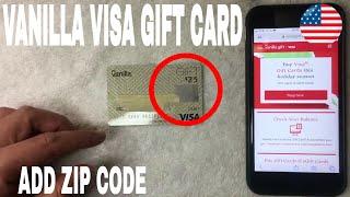 ✅  How To Add Register Zip Code To Vanilla Visa Gift Card 🔴