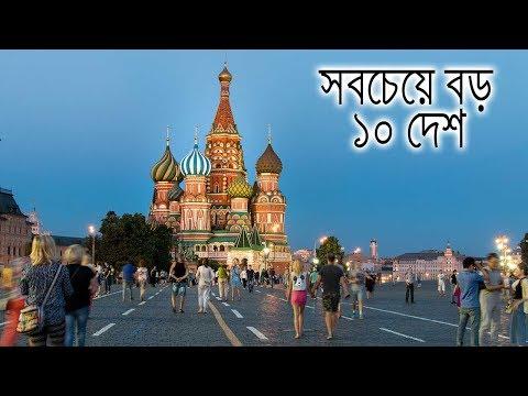 আয়তনে বিশ্বের সবচেয়ে বড় ১০টি দেশ !! Top 10 Largest Countries In The World