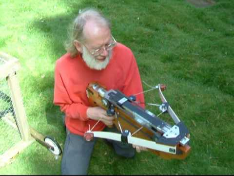 Extremely Creepy Old Man Invents Fully Automatic Crossbow