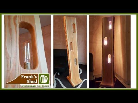 Designer Lampe aus EINER Holzbohle | selber bauen | DIY lamp from solid wood | 🔥 Franks Shed 🔥