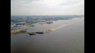 В Хабаровске завершилось строительство временной дамбы в районе ул. Пионерская для защиты города от затопления (канал