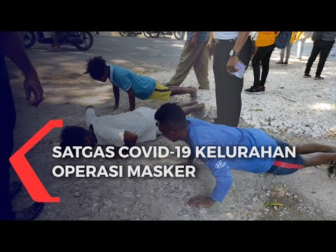 satgas covid- kelurahan gencar operasi masker