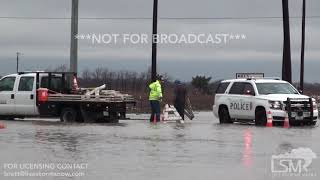 12-13-18 Prosper Texas Road Closures and Flooding