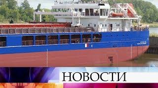В Нижегородской области спустили на воду сухогруз, построенный на заводе «Красное Сормово».