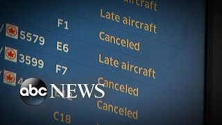 Dangerous winter storm wreaks havoc on air travel