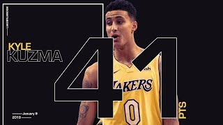 Kyle Kuzma Drops 41 in Lakers Win over Pistons