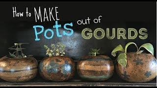 How To Make Your Own Flower Pots Out Of Gourds