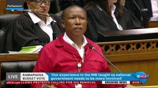 Malema responds to Presidency budget vote speech