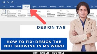 Fix: design tab not showing in ms word | design tab not showing in word
