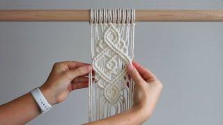 DIY Macrame Tutorial - Intermediate Pattern #2 Using Double Half Hitch Knots!