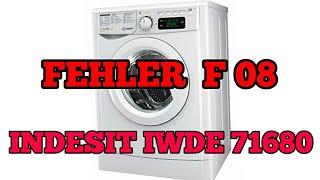 Fehler F08 INDESIT IWDE 71680 waschtrockner
