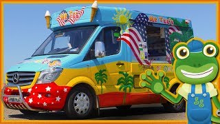 Ice Cream Truck for Children | Gecko's Real Vehicles