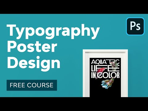 Typography Poster Design in Adobe Photoshop | FREE COURSE