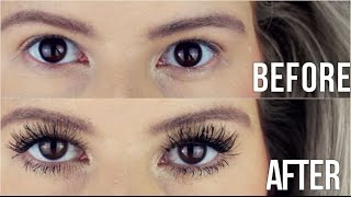 Younique Moodstruck 3D Fiber Lashes: FIRST IMPRESSIONS (Review + Demo) | Hannah Leigh