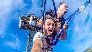 WORLD'S BIGGEST ROPE SWING! (Nevis Swing)