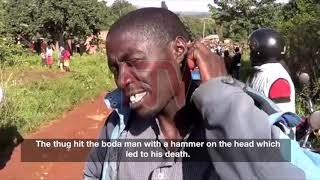 Police in Jinja town is hunting for a group of men who attacked a