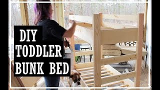 Toddler Bunk Beds DIY//Crib Mattress Bunk Bed//Build It Yourself
