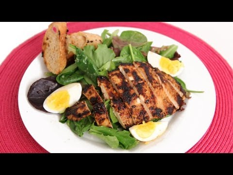 Grilled Chicken Caesar Salad Recipe – Laura Vitale – Laura in the Kitchen Episode 577