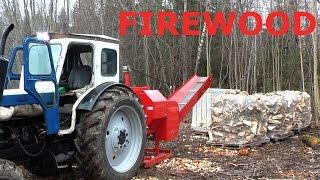 Superpilke Firewood Processor With Palax Motti Bag System