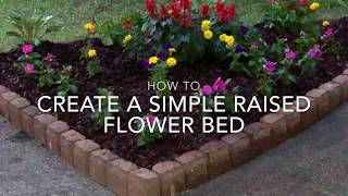 How To...Create A Simple Raised Flowerbed On Grass!
