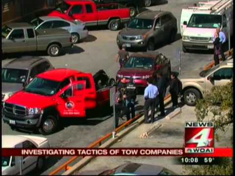 Local news catches scamming tow truck companies and gets state investigators to swarm in realtime for instant justice
