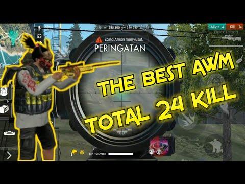 THE BEST AWM TOTAL KILL 24 #freefire