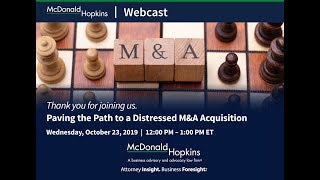 Paving the Path to a Distressed M&A Acquisition