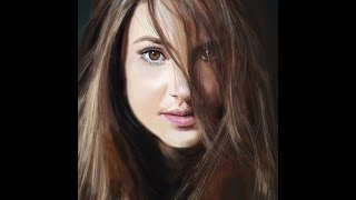 Photoshop drawing - Shailene Woodley / Рисунок в Фотошоп - Шейлин Вудли