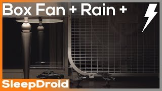 ► Box Fan and Rain Sounds for Sleeping with Distant Thunder, 10 hours of Fan White Noise and Rain 4k