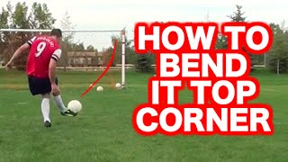 How to curve a soccer ball | How to bend a soccer ball | How to curl a soccer ball or football