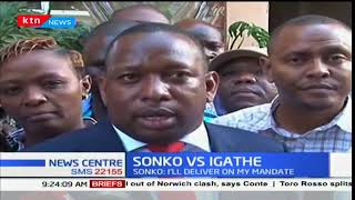 Sonko vs Igathe: Mike Sonko has dismissed Igathe's resignation,terms it a non-issue