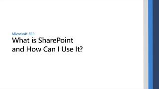 Videos zu Microsoft SharePoint