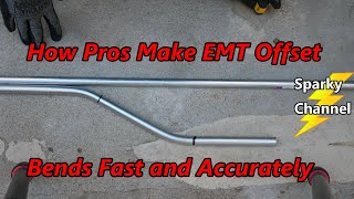 How Pros Make EMT Offset Bends Fast and Accurate! Amazing Footage with the Best of Apprentices Also