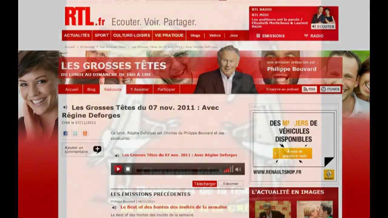 Interview du Dr BENADIBA sur RTL par Philippe BOUVARD: Les Grosses têtes (Nov.2011)