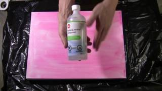 ART BY JOEL Tutorial - Alcohol With Acrylic