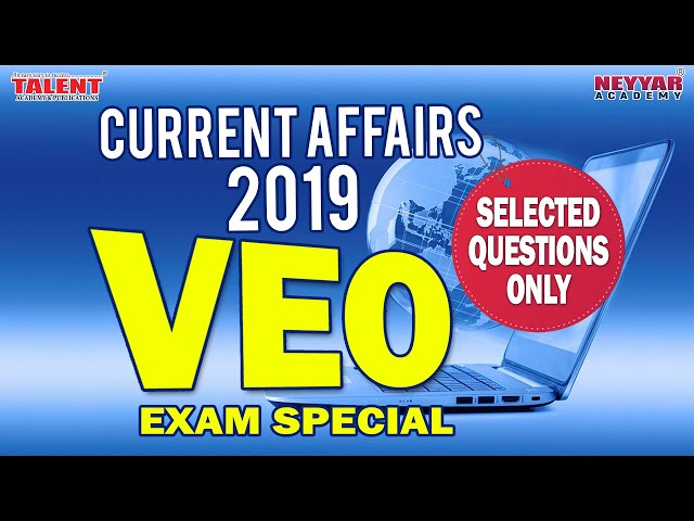 VEO EXAM Special CURRENT AFFAIRS