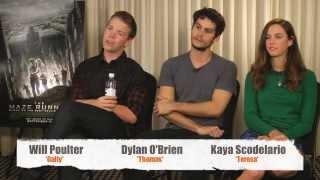 THE MAZE RUNNER Interview - Dylan OBrien, Kaya Scodelario & Will Poulter |