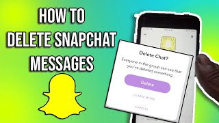 (2020) : HOW TO DELETE MESSAGES ON SNAPCHAT FOREVER !