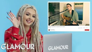 Zhavia Watches Fan Covers On YouTube | Glamour