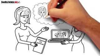 Рисованное Дудл Видео для презентации и продажи авторских трудов.
