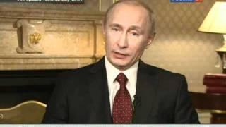 Ларри Кинг взял интервью у Путина  2010