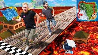 Floor Is Lava Race Across The Map Challenge!   Fortnite