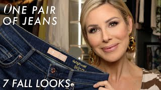 One Pair of Jeans, 7 Fall Looks | Dominique Sachse