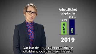 Arbetslösheten minskar mest bland män