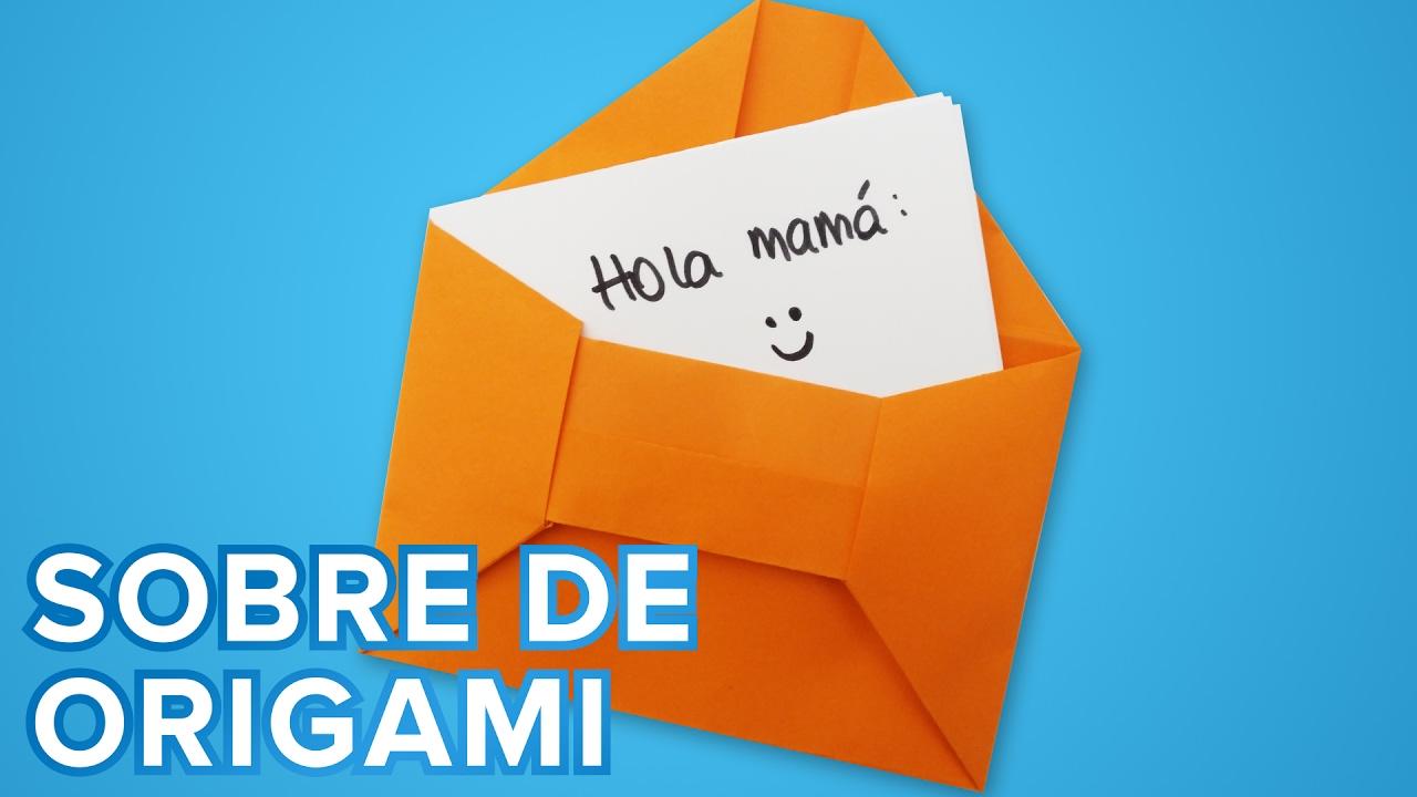 Cómo hacer un sobre de origami para las cartas