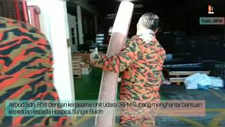 JBPM Subang hantar barang keperluan hospital